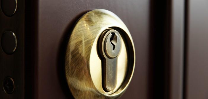 Door lock close-up