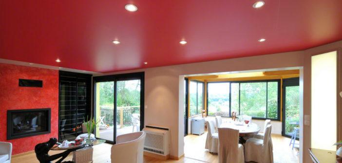la toile tendue plafond pour la r novation int rieure. Black Bedroom Furniture Sets. Home Design Ideas